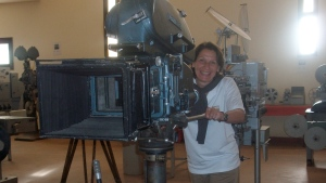 Anne Trouvé en visite au studio de cinéma de ouarzazate